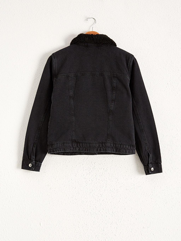 %100 Pamuk %75 Polyester %25 Akrilik Uzun Kol Düz Diğer Kalın Jean Ceket Standart %100 Pamuk Yakası Kürklü Jean Ceket
