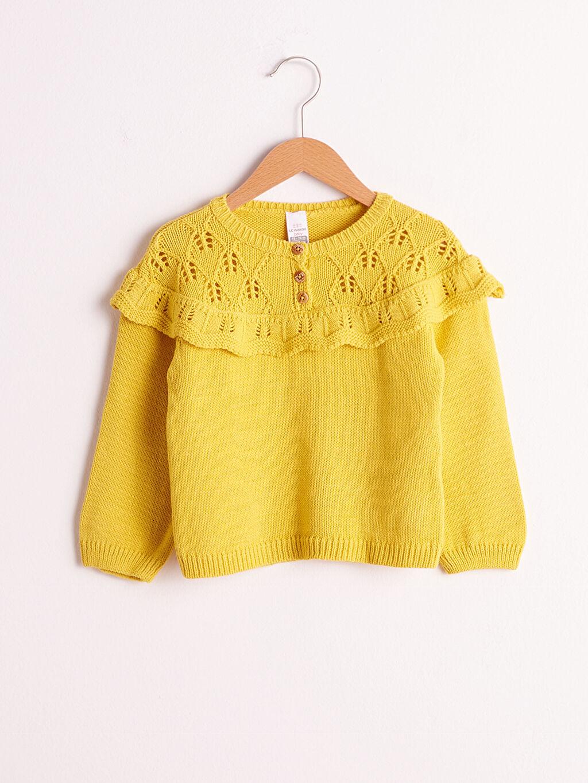Sarı Kız Bebek Triko Kazak 0WFH03Z1 LC Waikiki
