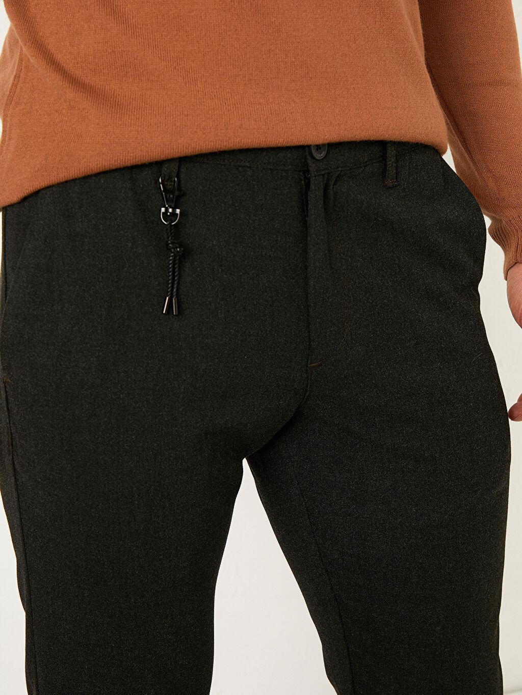LC Waikiki Antrasit Slim Fit Dokulu Pantolon