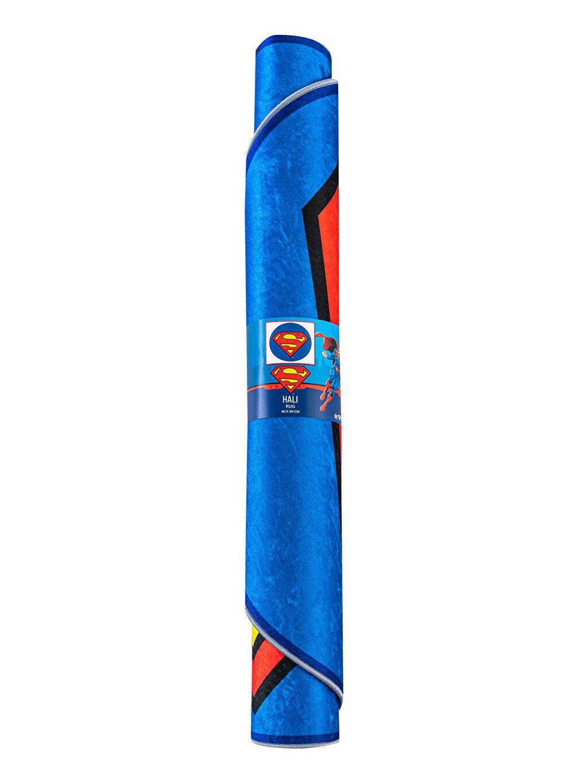 %100 Polyester Superman Baskılı Halı
