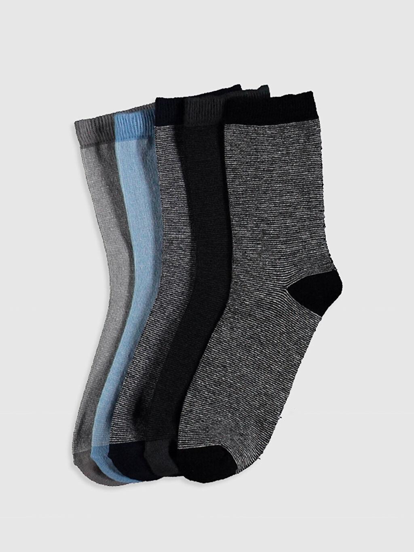 Çok Renkli Erkek Çocuk Soket Çorap 5'Li 0WFR81Z4 LC Waikiki