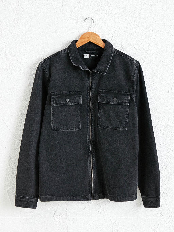 Siyah Standart Kalıp Jean Ceket 0WGC52Z8 LC Waikiki