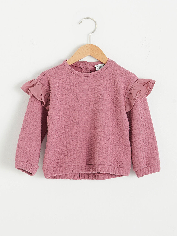Pembe Kız Bebek Sweatshirt 0WGE92Z1 LC Waikiki