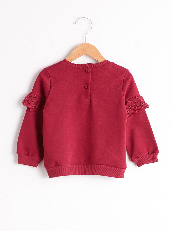 %66 Pamuk %34 Polyester Baskılı %100 Pamuk Sweatshirt Kız Bebek Baskılı Sweatshirt
