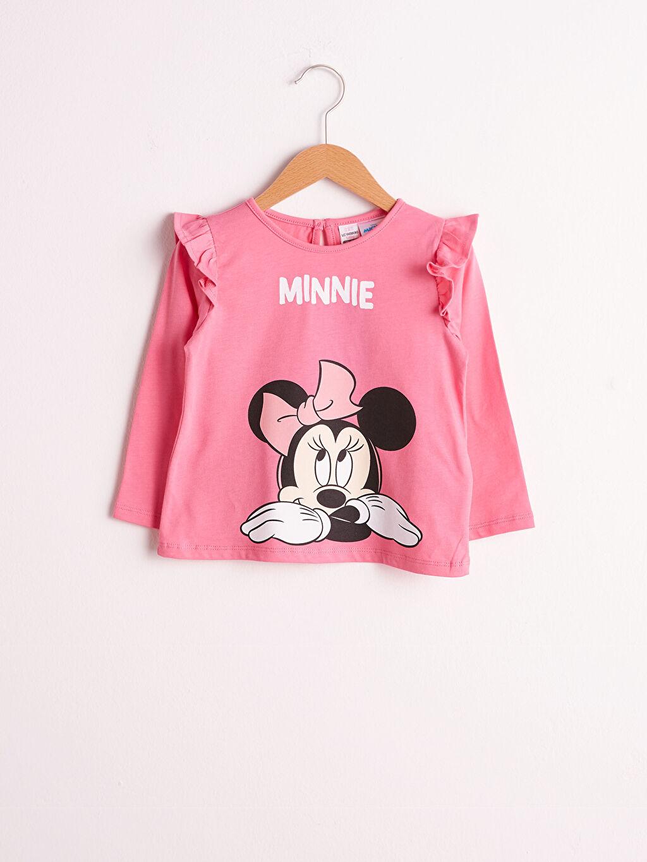 Pembe Kız Bebek Minnie Mouse Baskılı 0WGI12Z1 LC Waikiki