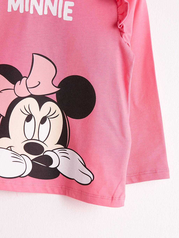 Kız Bebek Kız Bebek Minnie Mouse Baskılı