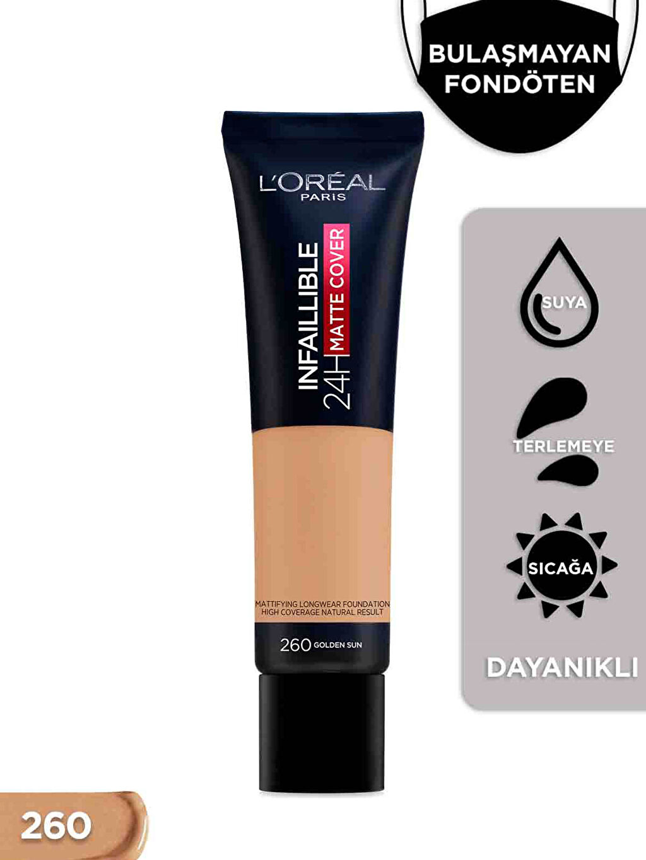 Çok Renkli L'oréal Paris İnfaillible 24H Matte Cover Yüksek Kapatıcı Fondöten - 260 Golden Sun 0WGM90Z8 LC Waikiki