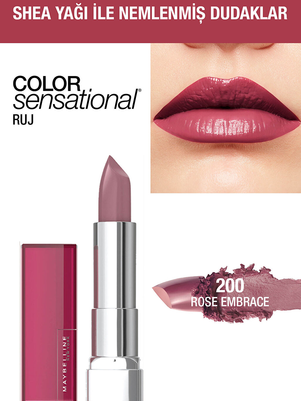 Çok Renkli Maybelline New York Color Sensational Ruj - 200 Rose Embrace - Gül Kurusu 0WGN34Z8 LC Waikiki