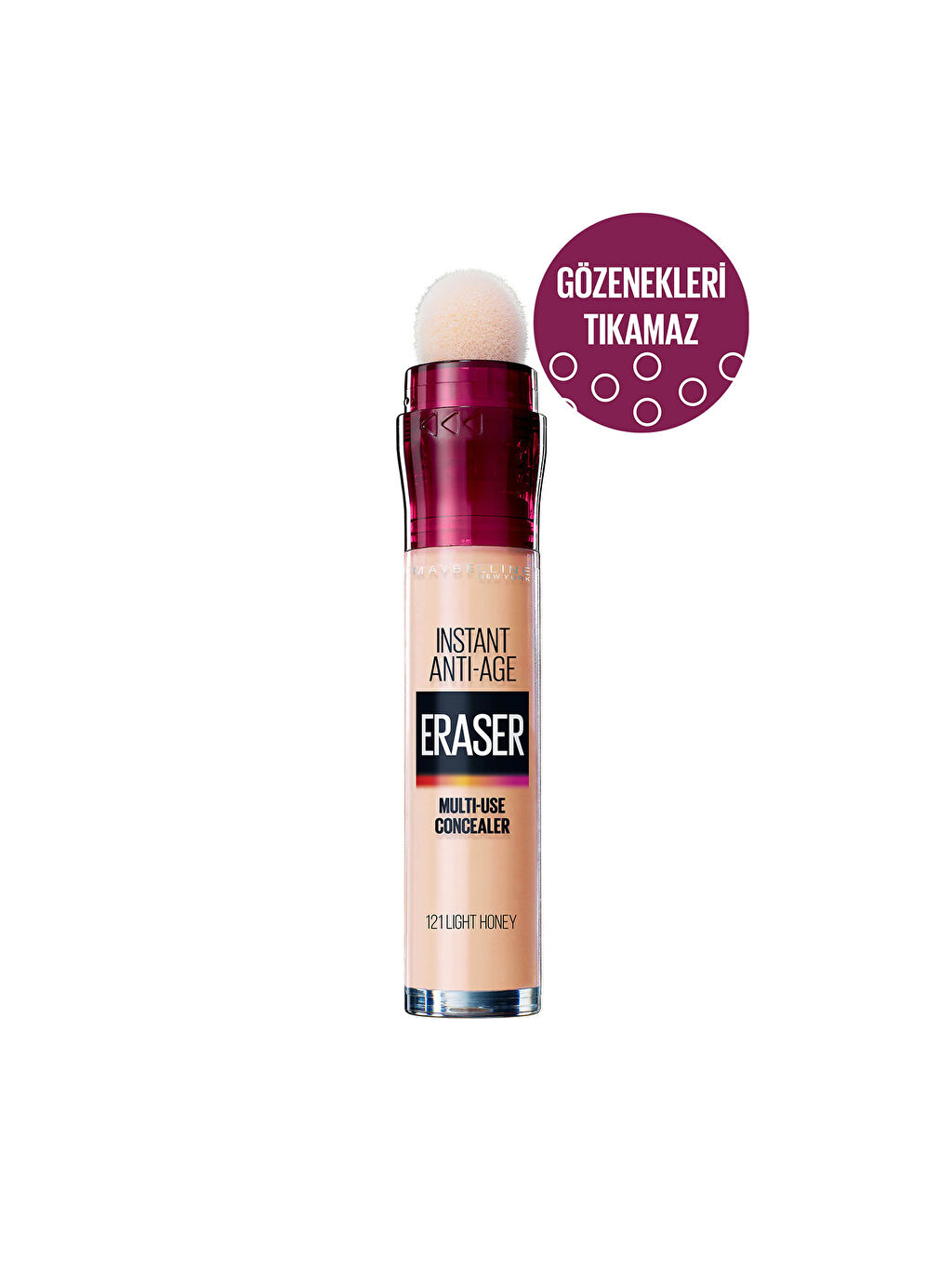Çok Renkli Maybelline New York İnstant Anti Age Eraser Kapatıcı - 121 Light Honey 0WGN41Z8 LC Waikiki