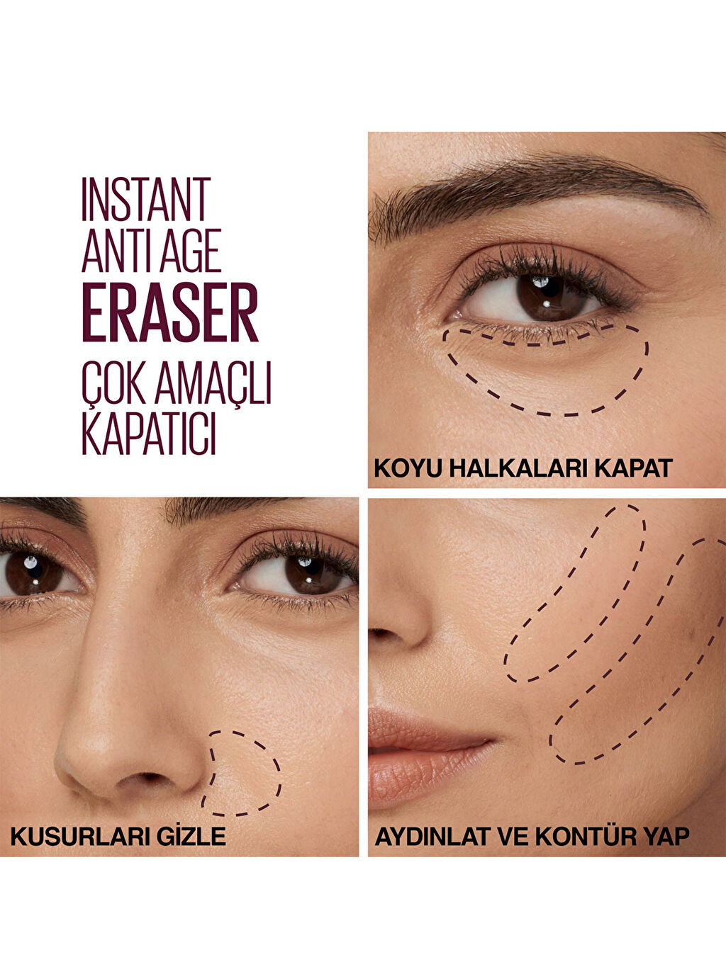 Kadın Maybelline New York İnstant Anti Age Eraser Kapatıcı - 121 Light Honey
