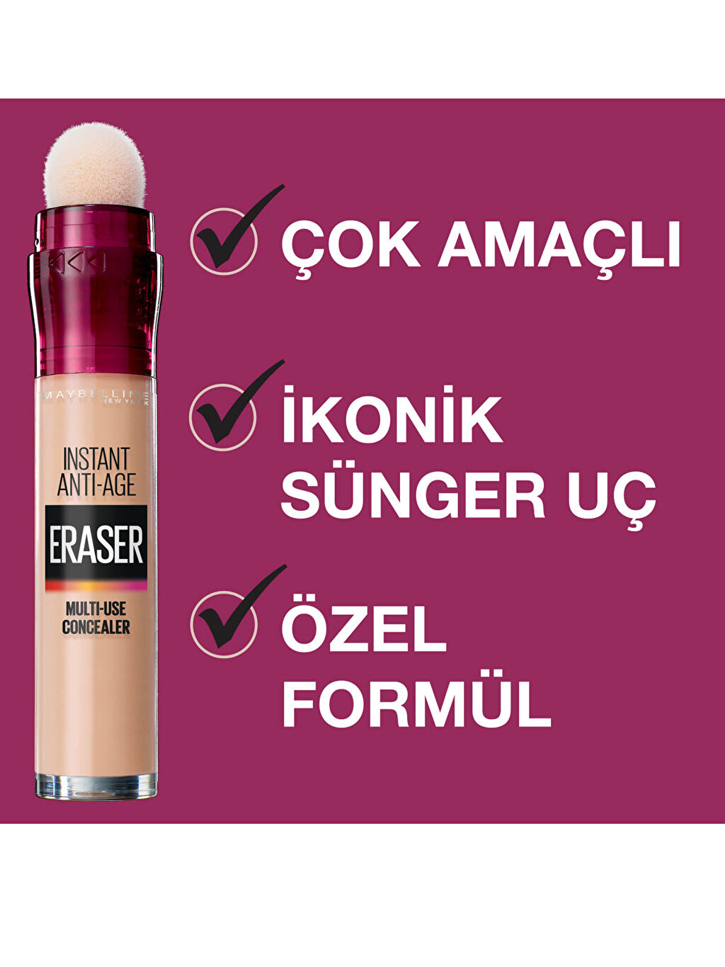 Maybelline New York İnstant Anti Age Eraser Kapatıcı - 121 Light Honey
