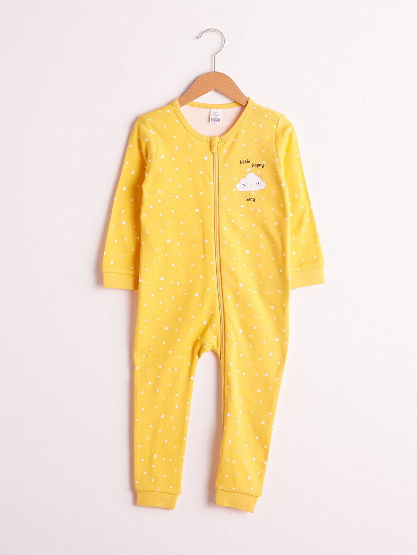 Sarı Kız Bebek Fermuarlı Tulum 0WGU02Z1 LC Waikiki