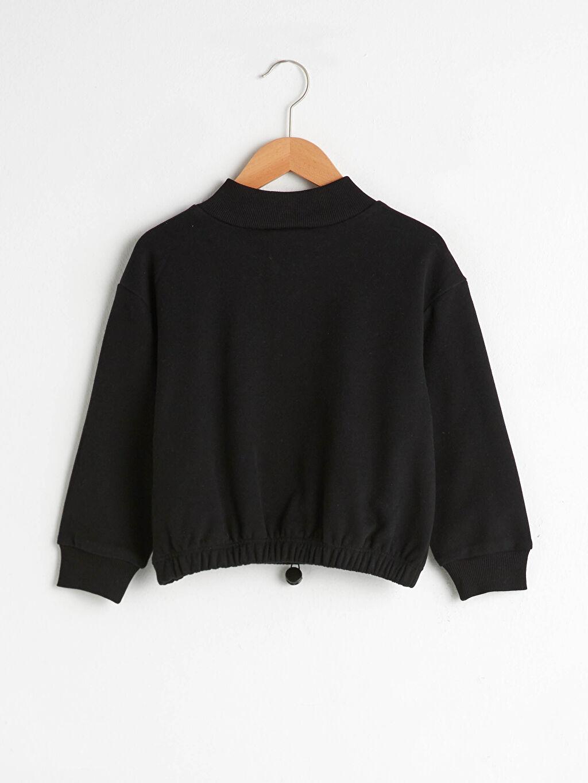 %65 Pamuk %35 Polyester Sweatshirt Orta Kalınlık Uzun Kol Dik Yaka Sweatshirt Kumaşı Kız Çocuk Baskılı Sweatshirt