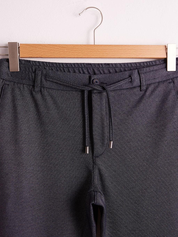 Lacivert Slim Fit Jogger Pantolon