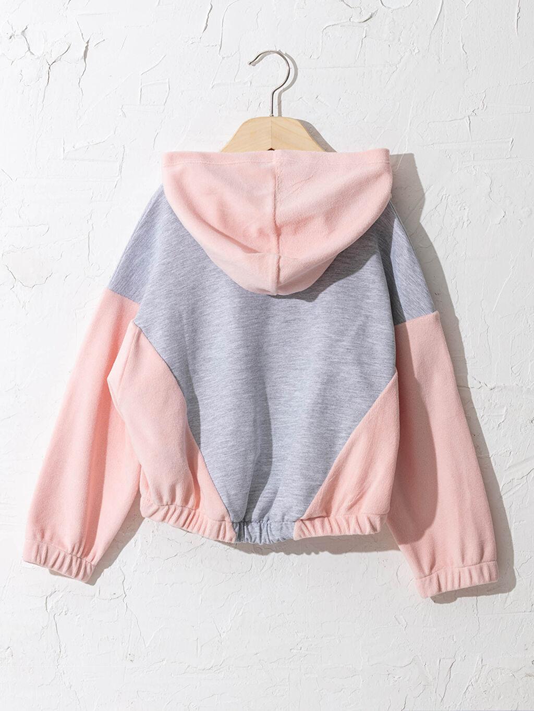 %50 Pamuk %50 Polyester Sweatshirt Kumaşı Sweatshirt Baskılı Orta Kalınlık Kapüşonlu Uzun Kol Kız Çocuk Baskılı Kapüşonlu Sweatshirt
