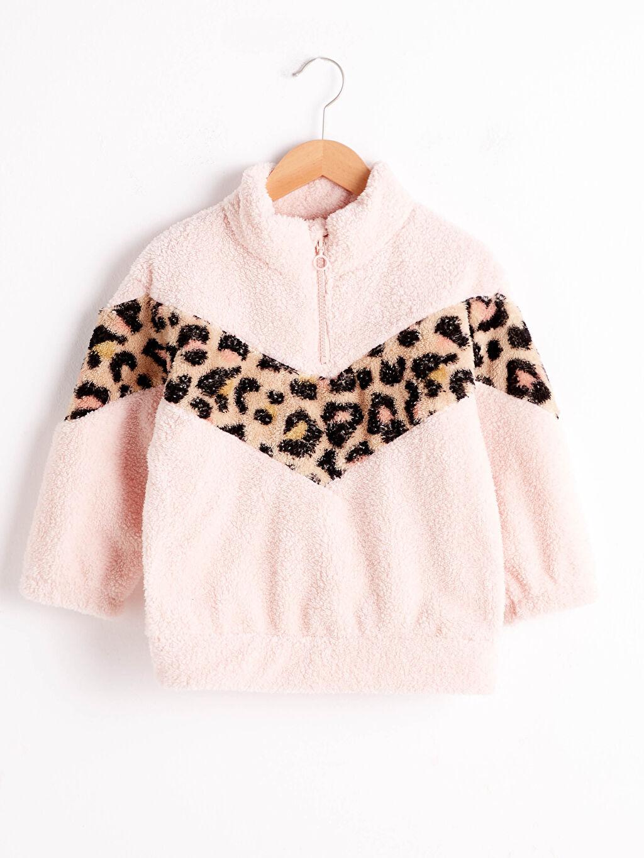 Pembe Kız Çocuk Pelüş Sweatshirt 0WHG61Z4 LC Waikiki