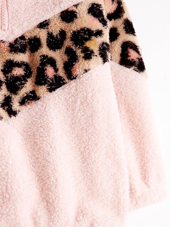 %100 Polyester Kız Çocuk Pelüş Sweatshirt