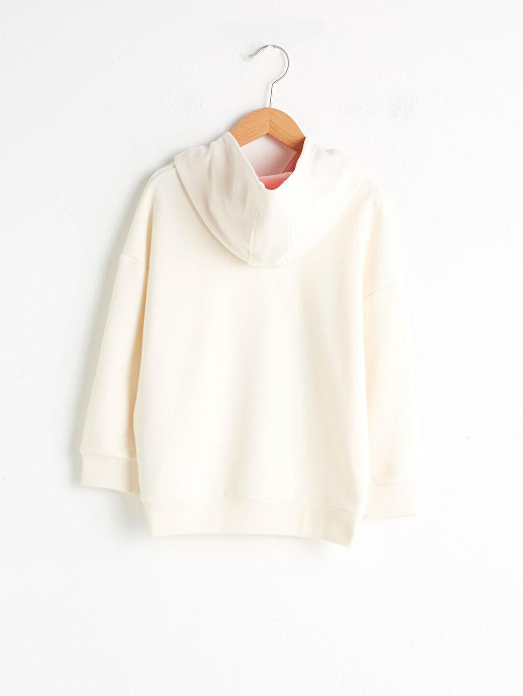 %70 Pamuk %30 Polyester Sweatshirt Kalın Baskılı Kapüşonlu Uzun Kol Sweatshirt Kumaşı %100 Pamuk Kız Çocuk Baskılı Kapüşonlu Sweatshirt