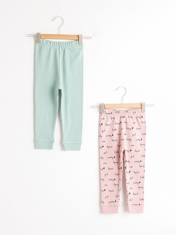 Pembe Kız Bebek Pijama Alt 2'Li 0WHI53Z1 LC Waikiki