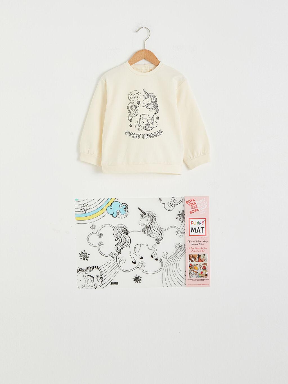 Kız Bebek Kız Bebek Funny Mat Ve Kalem Hediyeli Sweatshirt