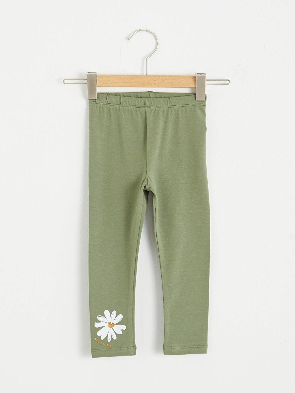 Yeşil Kız Bebek Uzun Tayt 0WHJ80Z1 LC Waikiki