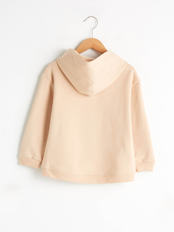 %65 Pamuk %35 Polyester Sweatshirt Kumaşı Sweatshirt Baskılı Orta Kalınlık Kapüşonlu Uzun Kol Kız Çocuk Baskılı Kapüşonlu Sweatshirt