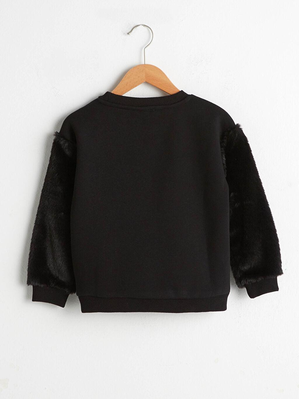 %70 Pamuk %30 Polyester Sweatshirt Kumaşı Yüksek Pamuk İçerir Uzun Kol Sweatshirt Baskılı Bisiklet Yaka Orta Kalınlık Kız Çocuk Baskılı Sweatshirt