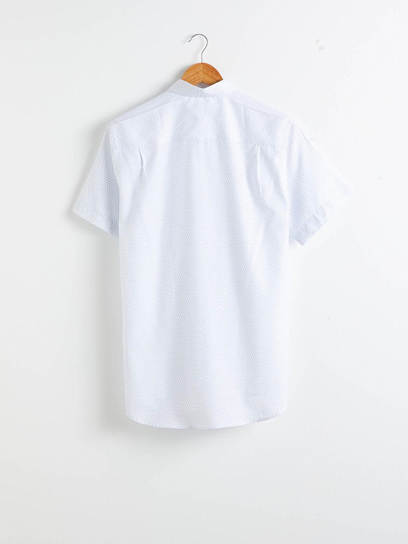 %54 Pamuk %46 Polyester Gömlek İnce Kısa Kol Regular Fit Kısa Kollu Oxford Gömlek