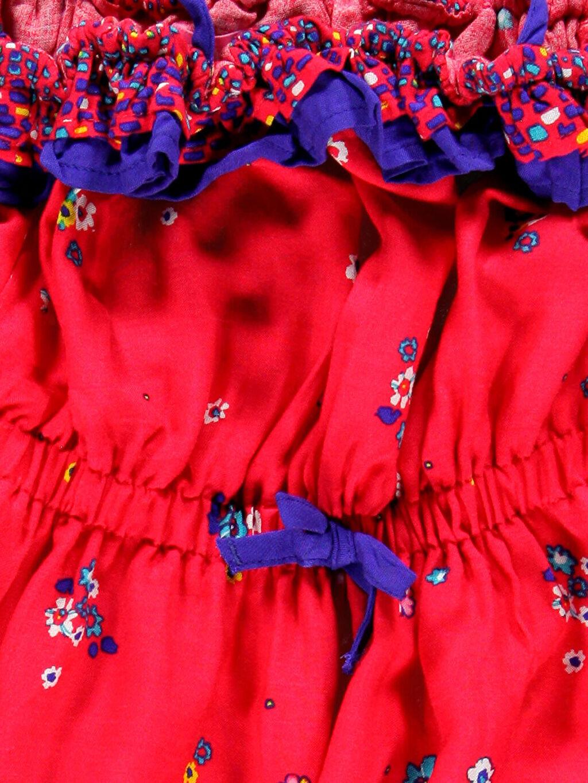Kız Çocuk Turuncu Diz Üstü Desenli Elbise