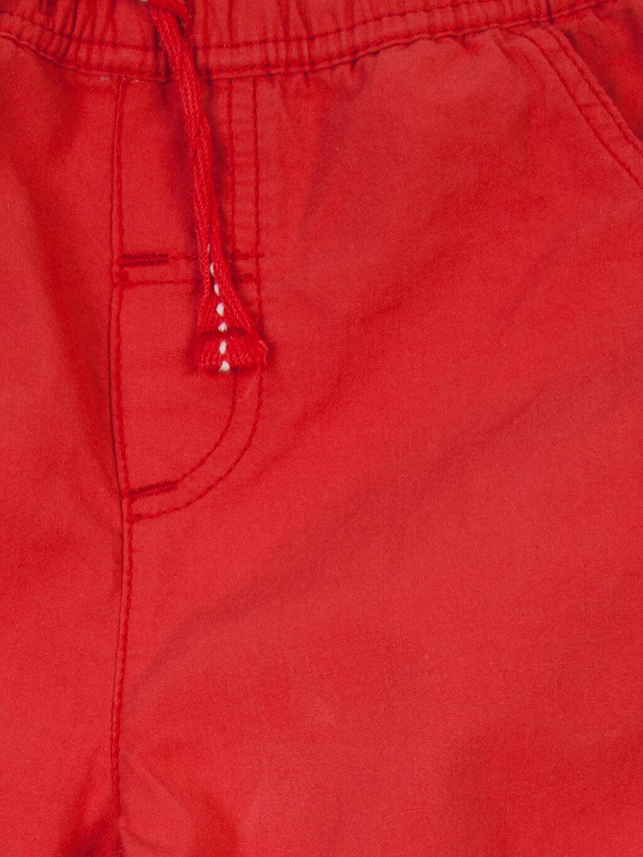 Erkek Bebek Kırmızı Normal Pantolon