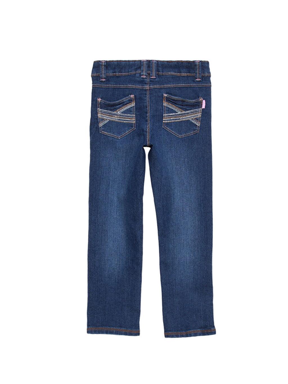 İndigo Normal Bel Dar Jean