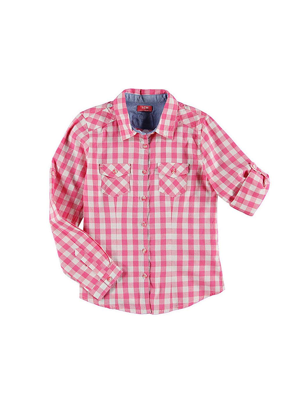 Pembe Pembe Kareli Uzun Kollu Gömlek 4Y1108Z6 LC Waikiki