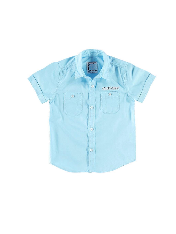 Mavi Mavi Düz Kısa Kollu Gömlek 4Y0230Z4 LC Waikiki