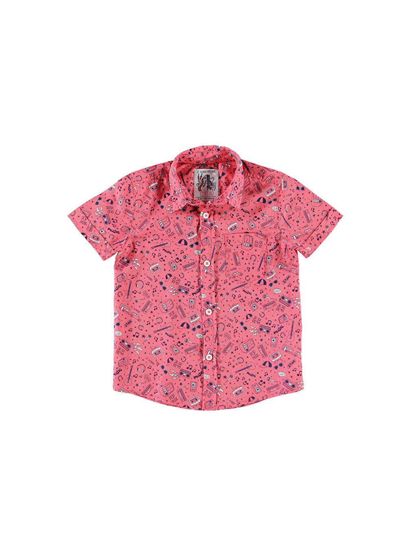 Pembe Pembe Kısa Kollu Gömlek 4Y8857Z4 LC Waikiki