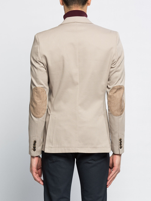 %97 Pamuk %3 Elastan %35 Pamuk %65 Polyester Blazer Ceket Bej Ceket