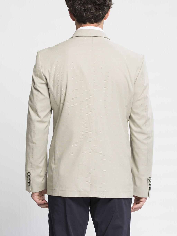 %49 Pamuk %49 Polyester %2 Elastan %60 Pamuk %40 Polyester Blazer Ceket Bej Blazer Ceket