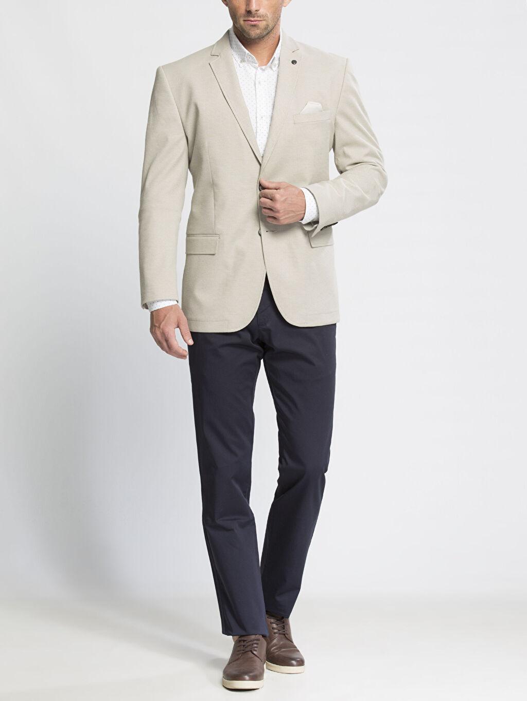 Erkek Bej Blazer Ceket