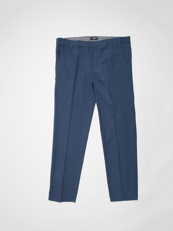 %100 Pamuk Normal Bel Normal Pantolon İndigo Normal Bel Normal Büyük Beden Pantolon