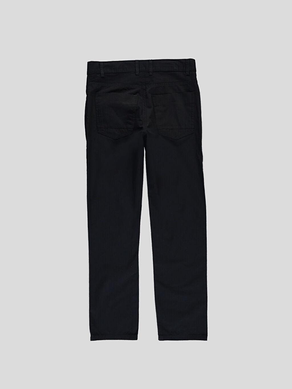 %100 Pamuk Normal Siyah Normal LCW Young Pantolon