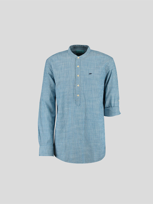 Mavi Mavi Uzun Kollu Gömlek 6Y6674Z6 LC Waikiki