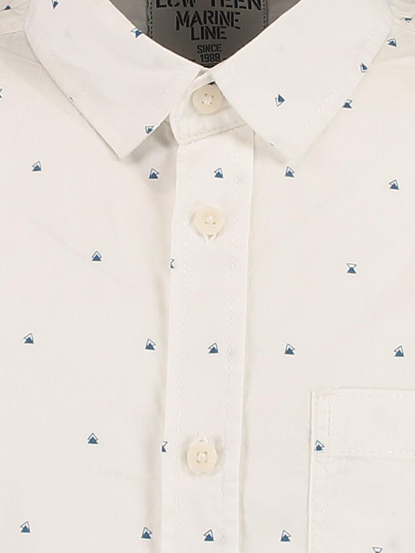 %100 Pamuk Gömlek Dar Kısa Kol Beyaz Dar Kısa Kollu LCW Young Gömlek