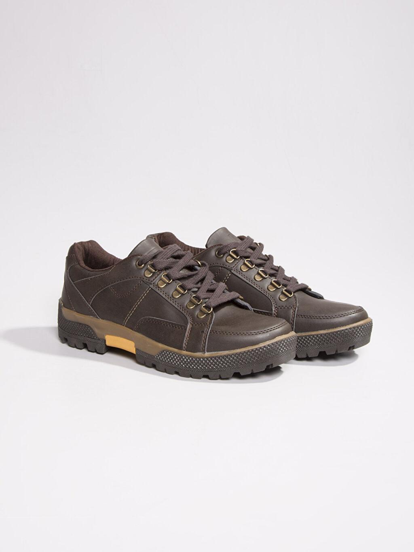 Kahverengi Kahverengi Bağcıklı Ayakkabı 6K1919Z8 LC Waikiki