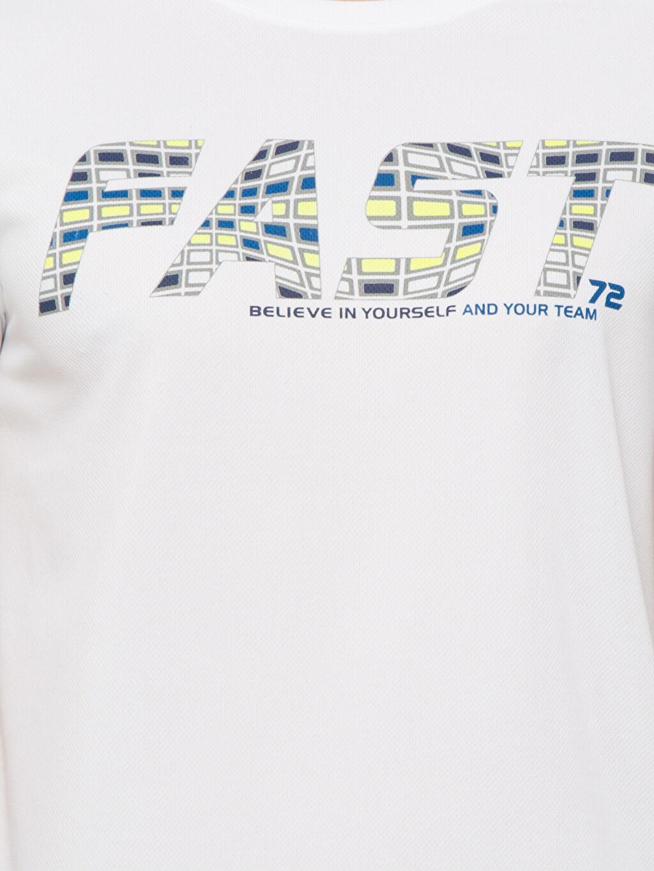 %100 Polyester Beyaz Tişört