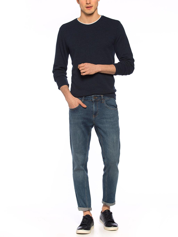 Erkek İndigo Jean