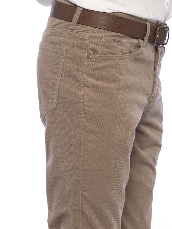 %98 Pamuk %2 Elastan Bej Normal Bel Dar Pilesiz Pantolon