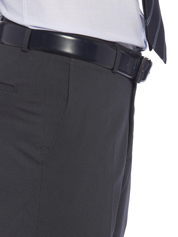 %40 Polyester %3 Elastan %57 Viskon Lacivert Pileli Pantolon