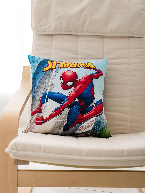 %100 Polyester Baskılı Bebek Kırlent Dolgulu Kırlent Spiderman Kırlent
