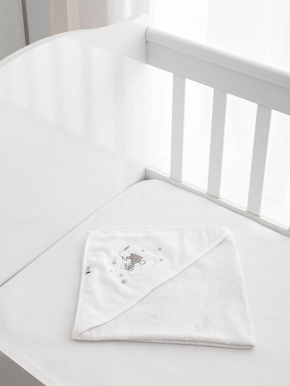 Beyaz Banyo Havlusu 8WL516Z1 LC Waikiki