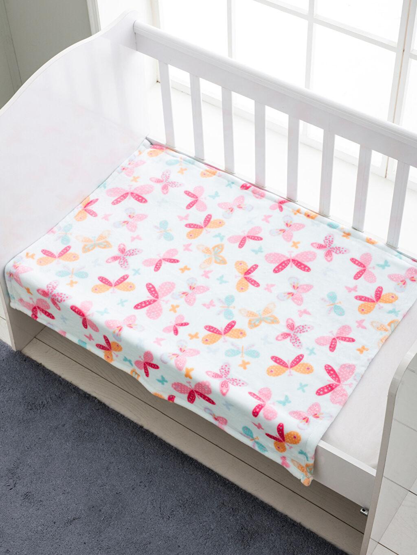 %100 Polyester Orta Kalınlık Bebek Battaniyesi Baskılı Kız Bebek Desenli Battaniye