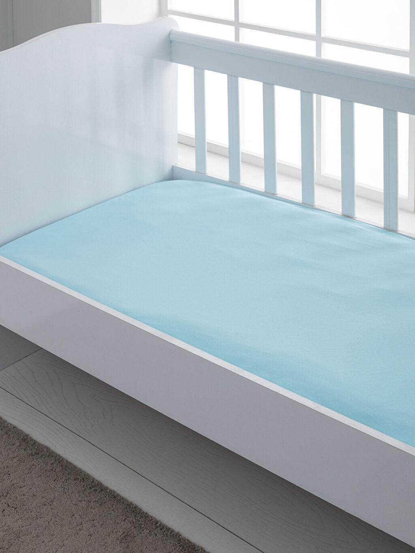 Mavi Bebek Lastikli Pamuklu Penye Çarşaf 0SK762Z1 LC Waikiki